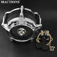 Motorbike Air Filter Motorcycle Chrome Air Cleaner For Harley Touring FLHX FLHR Dyna Softail Fat Boy XL Sportster 883 1200