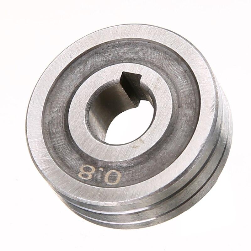 Hohe Präzision Stahl 0,6X0,8 MIG Schweißer Draht Feed Stick Roller Rolle Kunrled-Nut. 030