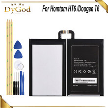 6250mAh For Homtom HT6 Battery & For DOOGEE T6/ T6 pro Battery Bateria Accumulator+Tools(China)