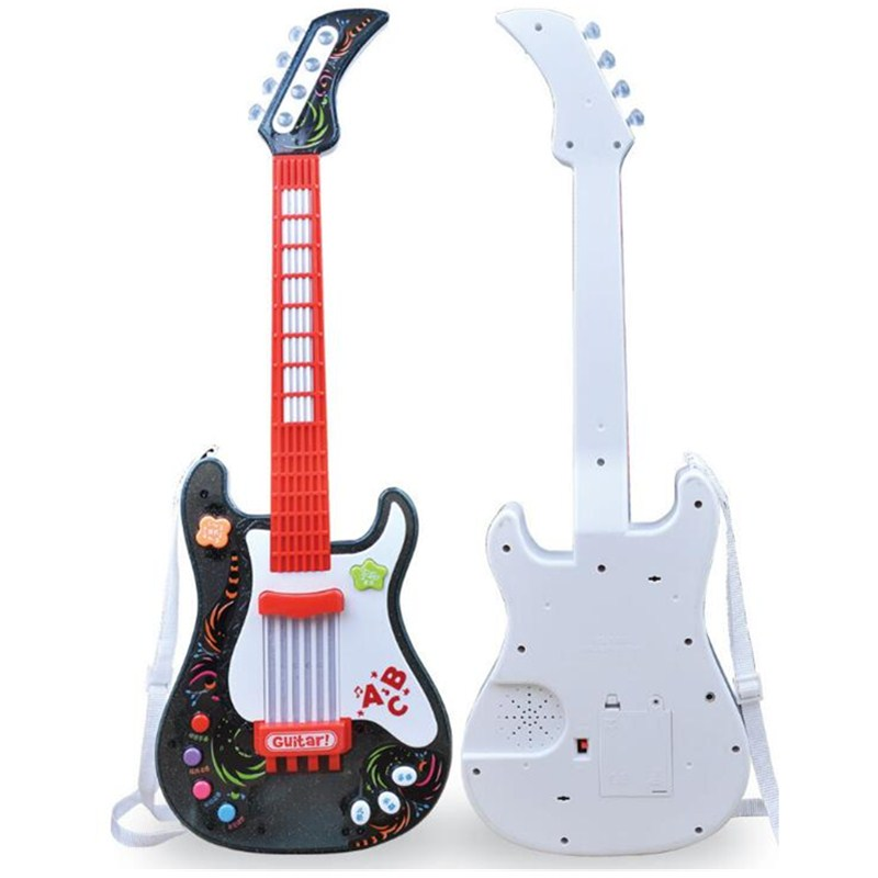 Hiqh Quality Nothing Strings Music Electric Magic Guitar Kids Musical Instruments Educational Toys For Children Gift L1326 cherry 12 strings 325 330 rick electric guitar with case best high quality musical instruments