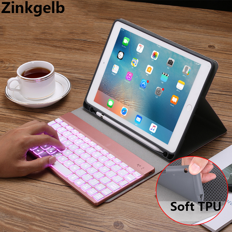 For iPad 9.7 2018 Case Cover Luxury PU leather Soft TPU Silicone Bluetooth Keyboard Flip Case for iPad 9.7 2017 iPad Air 2 CoverFor iPad 9.7 2018 Case Cover Luxury PU leather Soft TPU Silicone Bluetooth Keyboard Flip Case for iPad 9.7 2017 iPad Air 2 Cover