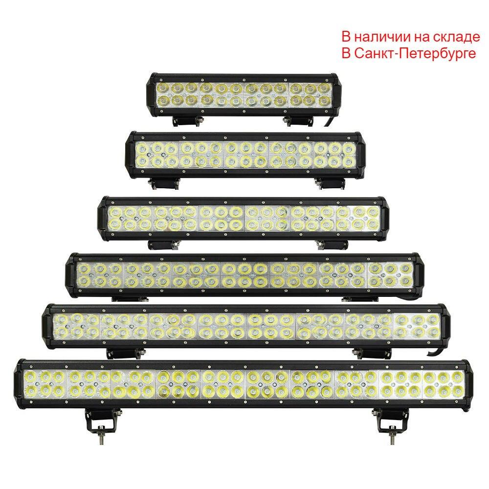 LED Work Light Bar 12 Inch Spot Beam 4X4 SUV DRL Driving Headlight Truck Boat Pickup ATV Fog Lamp 6000K White Color Work Light