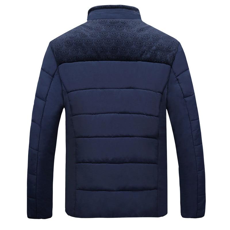 Figure Nouvelle Manches Longues Mode figure Hiver De Jacekts Vêtements Zipper Montant Outwear Col 2018 Manteau Chaude À Slim Hommes Veste q4qwnvrU