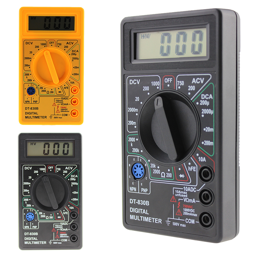 Mini Digital Multimeter DT-830B Electric Voltmeter Ammeter Ohm Tester AC/<font><b>DC</b></font> 750/1000V Amp Volt Ohm Voltage Meter Tester image