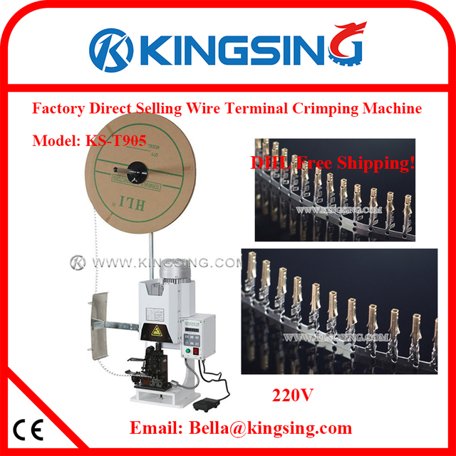 electric wire rope crimping machine, loose and reel terminal cutting ...