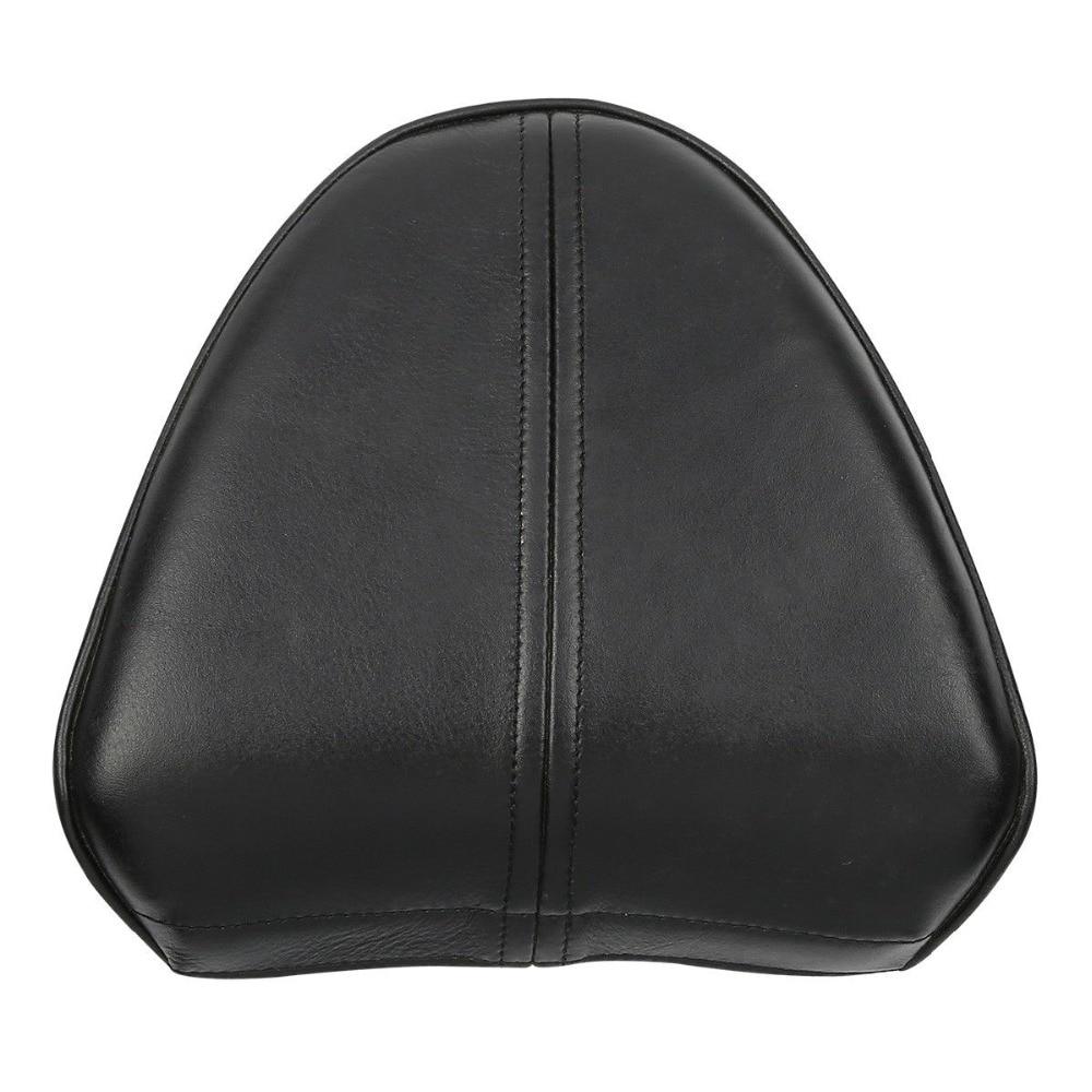 Black Genuine Leather Passenger Backrest Sissy Bar Pad For Indian Scout 2015-2018 Sixty 2016-2018 Bobber 2018