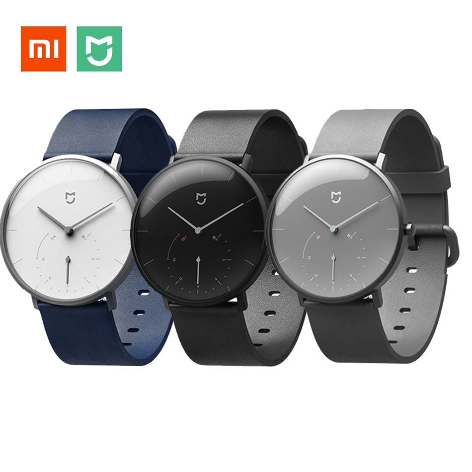 XIAOMI MIJIA Quartz Smart Watch Men Women Casual Double Dial Vibration Reminder Pedometer 6 Months Stand-by Smartwatch