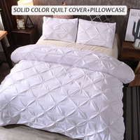 Bedding Sets Duvet Cover Bed Sheet Pillow Case Gift Red Polyester Fiber Luxury New Home Hotel
