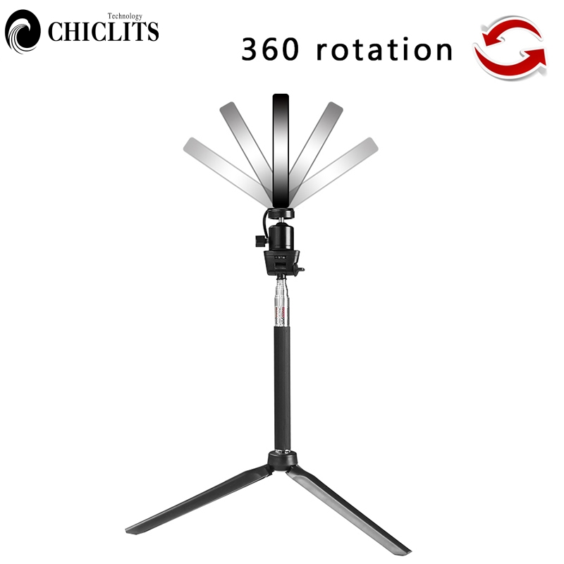 Dimmable LED Selfie Ring Light Youtube Video Photo Studio Light With Phone Holder USB Plug Tripod Photography Fill light