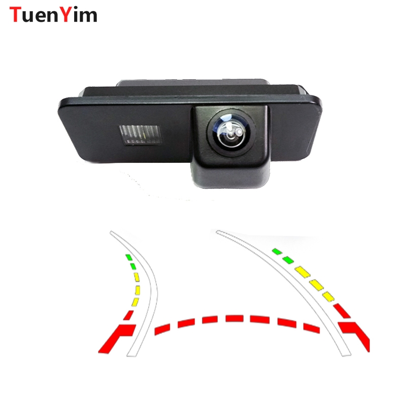 Dynamic Trajectory Parking Line Car Reverse Backup Rear View Camera For Volkswagen Passat PHAETON/SCIROCCO/GOLF 4 5 6 MK4 MK5