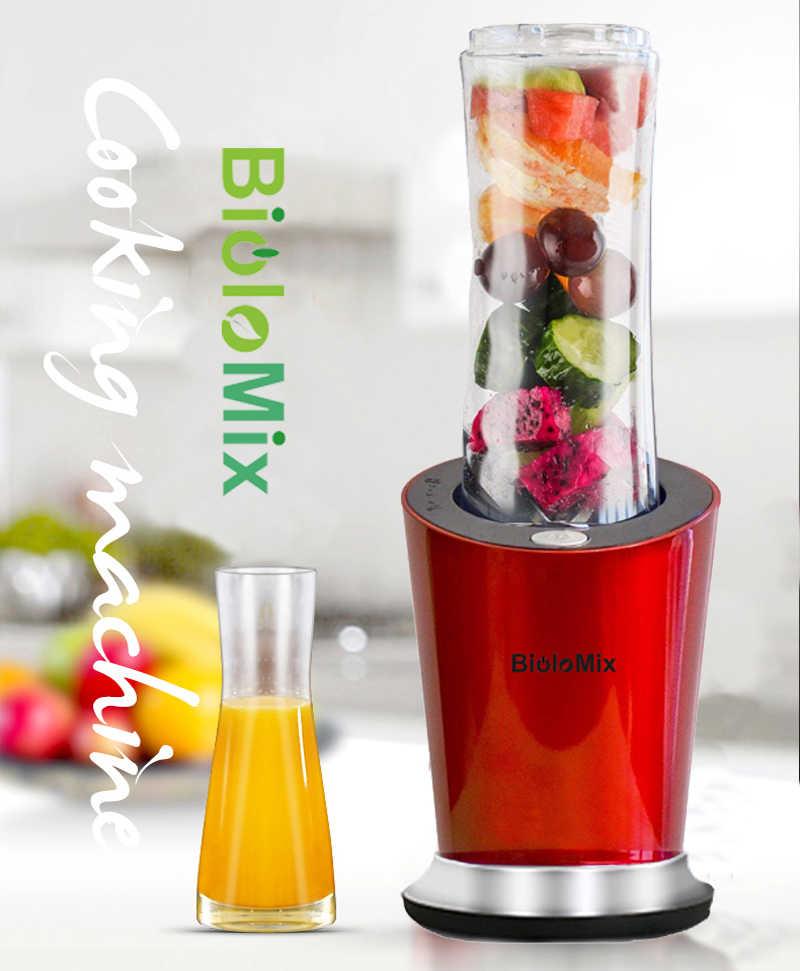 300 W de alta Velocidade Portátil Pessoal Mini Liquidificador Misturador Juicer com BPA LIVRE 600 ml Garrafa, opcional Copo 400 ml & 100 ml Seco Moedor