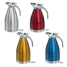 1.5L 2L Edelstahl Teekanne 4 Farben-Flaschen Thermoskanne Kaffee Thermoskannen Becher Wärmflasche Für Haus Geschenk VS035