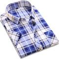 Мужчины С Коротким Рукавом Бренда Clothing Повседневная Плед Рубашки мужские Одежды Случайные Рубашки Camisa Masculina Плюс Размер Новый 2017