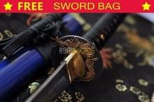 FREE SWORD BAG Full Tang Hand Forged Japanese 1095 T10 Spring Steel Carving Japan Dragon Sharp Samurai Katana Ninja Sword #115