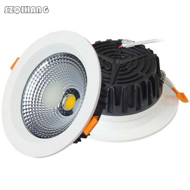 LED Downlight Dimmable 7W 10W 15W 20W Spot Light 220V 110V Aluminum Warm/Cold White LED Recessed Down Light For Kitchen Bedroom