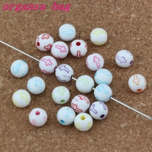 MIC 1000pcs / lots Hollow Cross Carved Acrylic Round Spacer Beads Religious Bead Loose beads10mm/ 8mm /6mm Jewelry DIY E-4