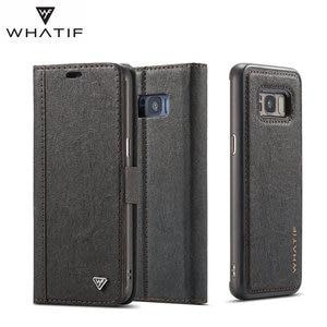Image 4 - WHATIF S10 S10e מקרה עבור סמסונג גלקסי הערה 10 9 S8 S7 קצה מקרה מגנט Flip נתיק ארנק חזרה כיסוי עבור Galaxy S9 S9 בתוספת