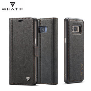 Image 4 - WHATIF S10 S10e Case for Samsung Galaxy Note 10 9 S8 S7 edge Case Magnet Flip Detachable Wallet Back Cover for Galaxy S9 S9 plus