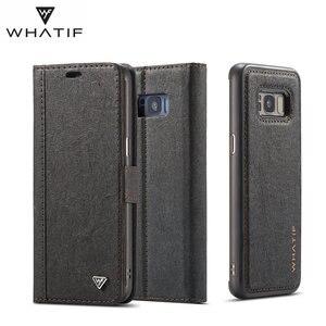 Image 4 - WHATIF S10 S10e étui pour Samsung Galaxy Note 10 9 S8 S7 bord étui aimant rabat détachable portefeuille couverture arrière pour Galaxy S9 S9 plus