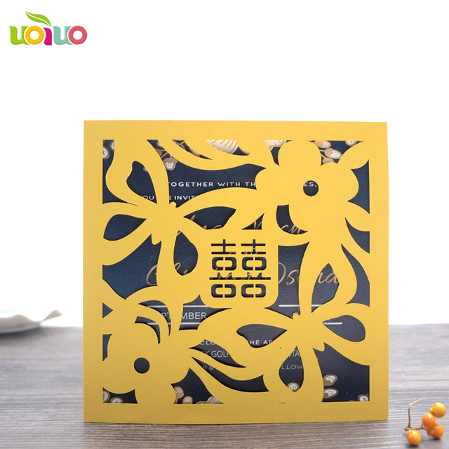 US $75 0 |custom baby naming ceremony invitation cards various colors and  papers wedding invites Chinese folk art wedding card-in Cards & Invitations