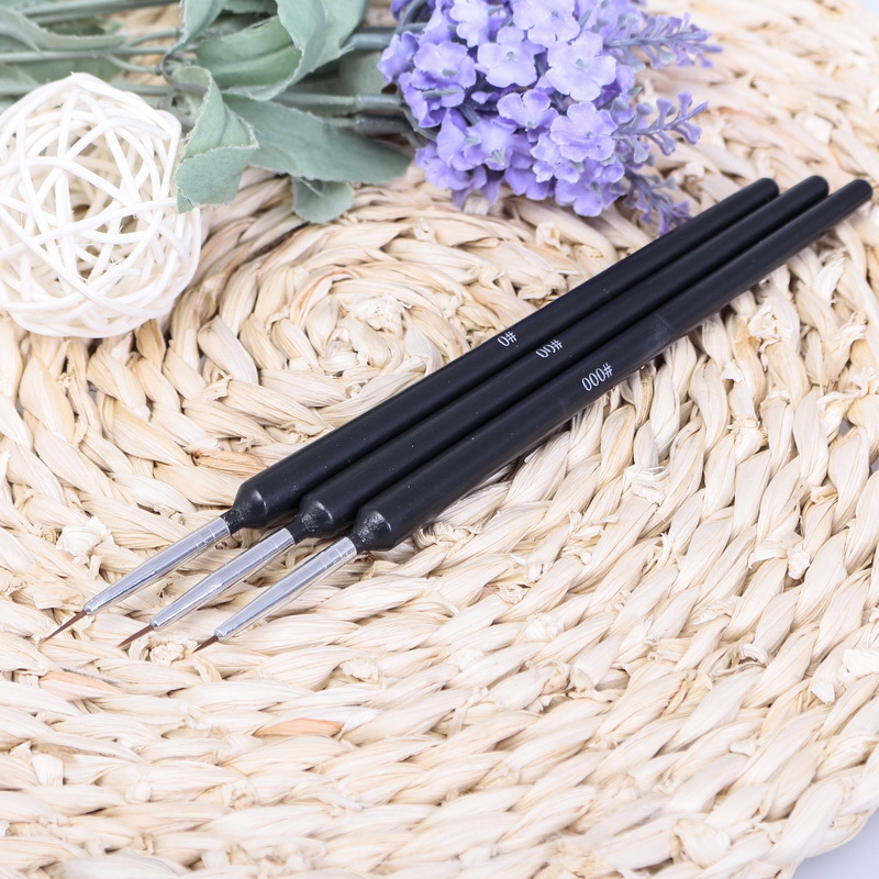 New Professional Design Black Nail Art Brush Set Painting Pen Dot Draw Decoration Tools - 3C Electronics Mall store