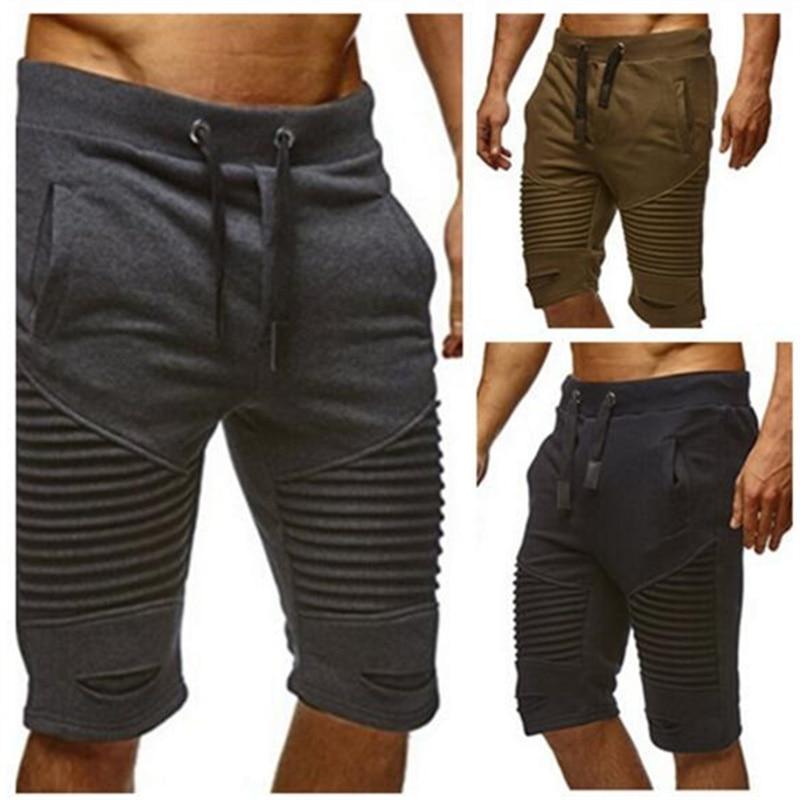 TREVOR LEIDEN Shorts Summer Men's Fitness Pants Brand Fashion Men's CottonCasual Bermuda Short Pants Men Casual Cargo Shorts