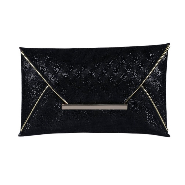 3 Color New Envelope clutch Lady Sparkling Dazzling Bag Purse Evening Party Handbag Day Clutches Shining Large Capacity Wallet