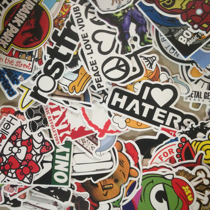 50p HOT SALE cool Stickers for Skateboard Laptop Luggage Snowboard Fridge Phone toy Styling Vinyl Decal