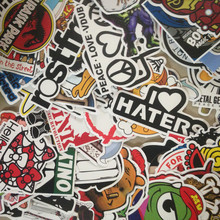 50p HOT SALE cool Stickers for Skateboard Laptop Luggage Snowboard Fridge Phone toy Styling Vinyl Decal home decor Stickers