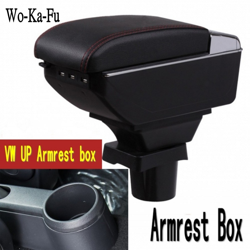 Car Interior Parts Center Console Armrest Box for VW UP Armrest box Auto Stroage 2009-2017 leather car interior parts center console armrest box for nissan kicks 2016 2017 2018 auto armrests storage with usb