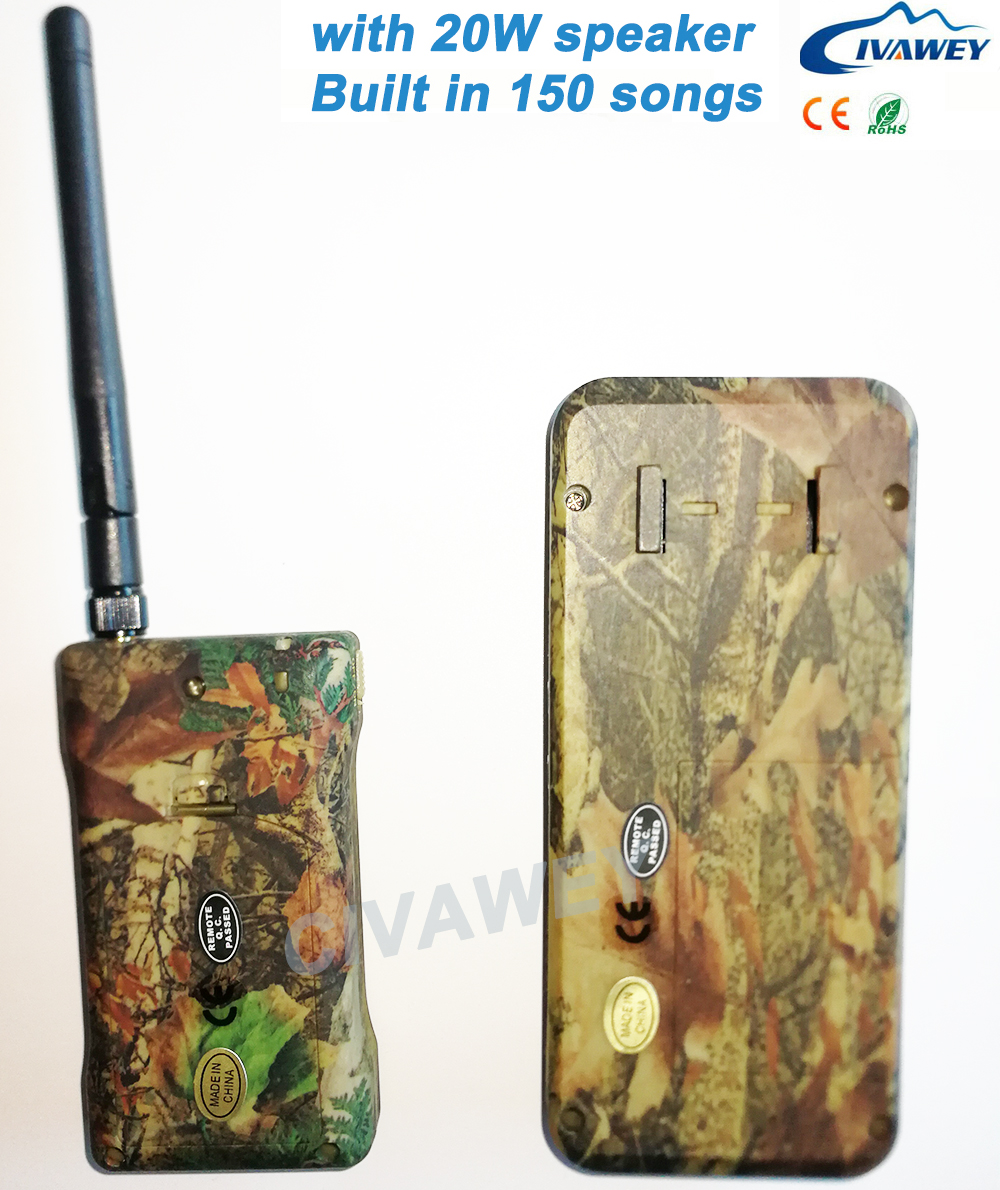 With remote controller 20W Mallard Duck Call Snow Goose call 150 Birds sound hunting MP3 Player bird caller timer on/off-in Hunting Decoy from Sports & Entertainment    3