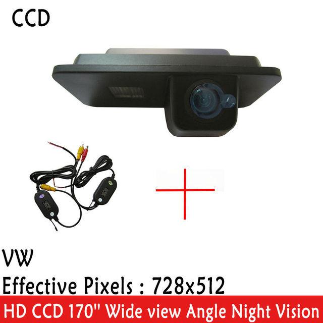 WrielessCar Rear View camera HD 170 Graus de Largura Ângulo de Visão CCD carro câmera PARA VW GOLF 4 5 6 MK4 MK5 EOS LUPO BESOURO Superb