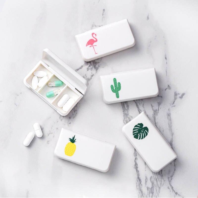Plastic Flamingo Cactus Leaf  Dustproof 1 PC Portable Pill Box Medicine Storage Boxes Small Kit Organizer Medical Kit