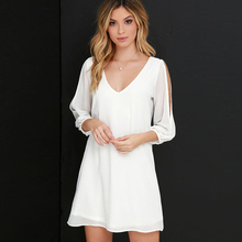 2145fdf5abedc Buy white shirt dress and get free shipping on AliExpress.com