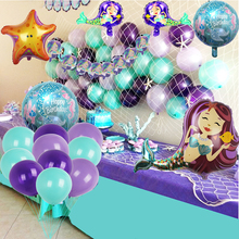 80pc Mermaid Themed Parties Decoration Foil Balloon Party Birthday Bunting Banner Kids