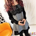 4XL Plus Size Maternity Dresses Long Sleeved Lace Pregnancy Clothing Loose Bottoming Shirt Tops For Pregnant Women Clothes