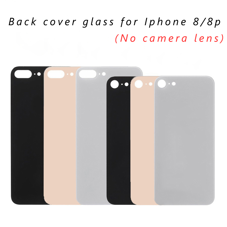 Housing-Replacement-Parts Back-Cover Glass No-Camera-Lens Rear-Housing iPhone 8-Plus