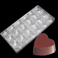 Heart Shaped Bakeware With Mirror Clear Magnetic Chocolate Transparent Sheet Polycarbonate Chocolate Mould DIY PC Chocolate