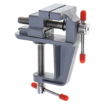 Aluminum Miniature Jewelers Hobby Clamp On Table Bench Vise Mini Tool Vice Muliti-Funcational DIY Jaw Bench Clamp aluminum miniature small jewelers hobby clamp on table bench vise mini tool vice for cnc milling machine