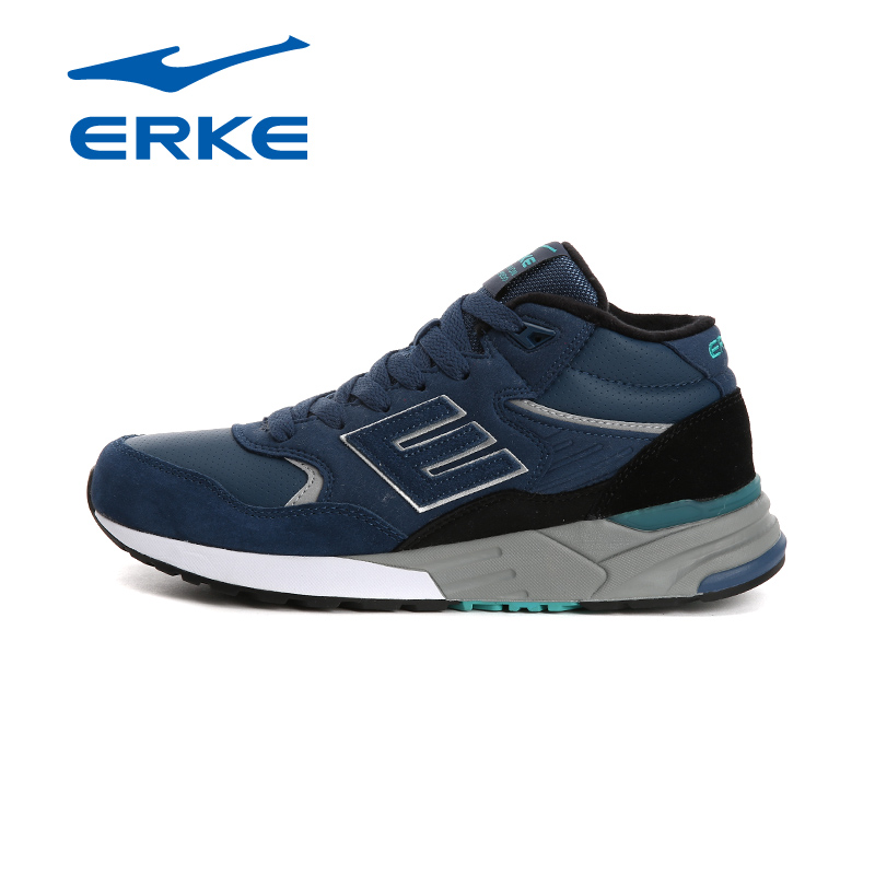 ERKE Mens Runners Winter Sports Outdoor Running Shoes Sneaker For Men High Top Sport Running Jogging Shoes Sneakers Man