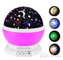 Lampka Nocna LED + Projektor Gwiazd 360 2w1 DZIECI