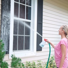 Сад Стекло уборки на открытом воздухе Стекло чистящее средство для очистки окон порошок с цельными круглыми кристаллами, средство для мытья окон и Лейка для дома