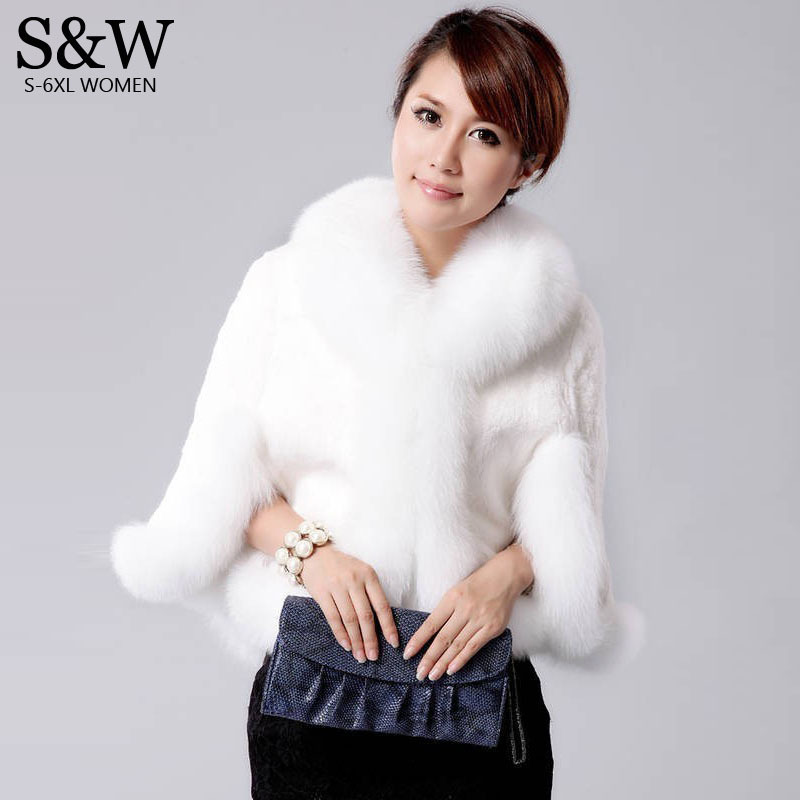 Winter Women's Fur Poncho Rabbit Fur Coat Fur Vest Fox Fur Collar Fur Cloak Jacket Bridal Wedding Dress Shawl Cape Bolero free shipping the new imitation rabbit hair imitation fur shawl jacket bridal gown cape fur collar female overcoat scarf