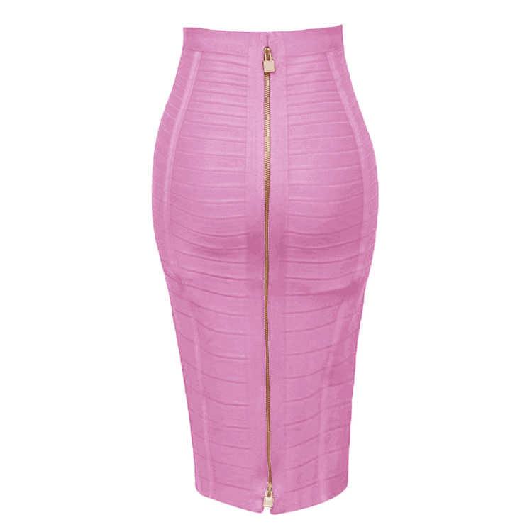 Бесплатная доставка плюс размер XL XXL летняя модная сексуальная молния повязная юбка 2019 дизайнерская трапециевидная юбка-карандаш Faldas 58 см