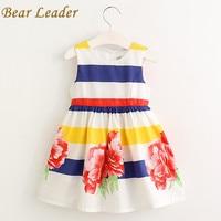 Bear Leader Girls Dress Summer 2016 Brand Girls Clothes Kids Dresses Floral Sleeveless Children Dress Princess