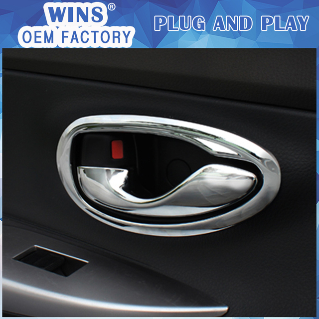 4 Pcs Car Door Handle Bowl Cover Interior Inside handle Decoration ...