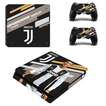 Juventus Cristiano Ronaldo PS4 Slim Skin Sticker Decal for PlayStation 4 Console and 2 Controller PS4 Slim Skins Sticker Vinyl