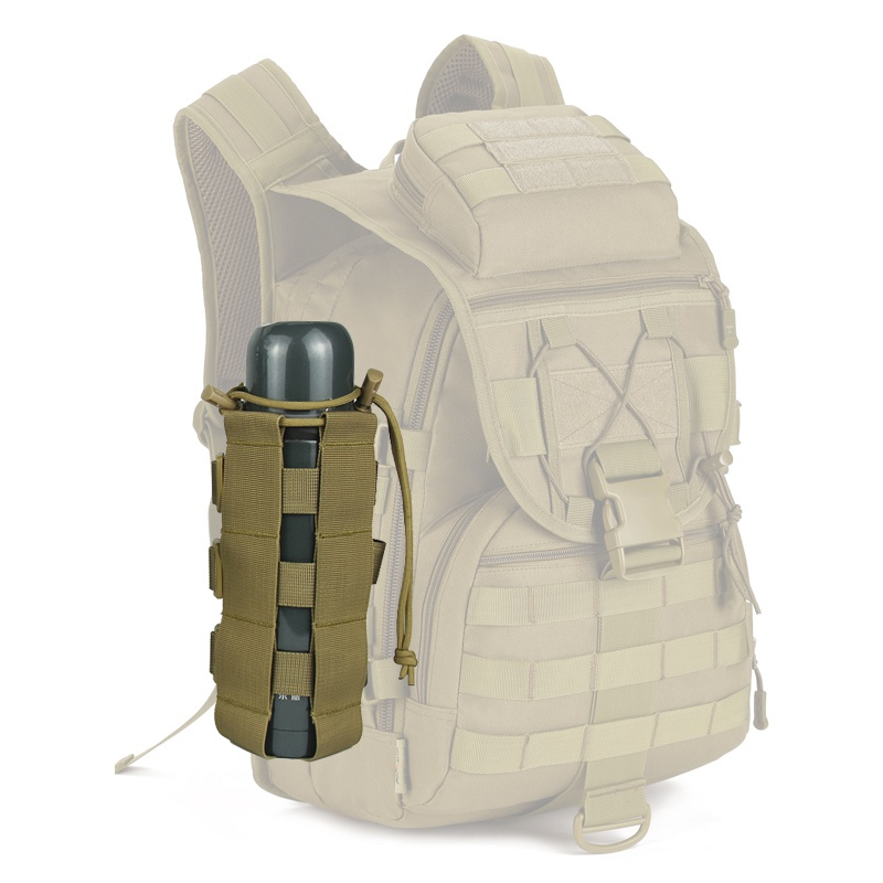 2019 High Quality Tactical Water Bottle Pouch Military Molle System Kettle Bag Camping Hiking Travel Survival Kits Holder