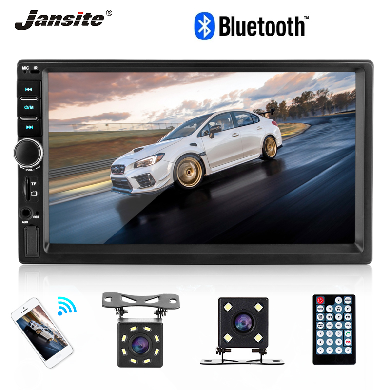 Jansite Double din Car Radio MP5 player Touch screen TF Card USB car multimedia player with waterproof 8 LED light Backup CameraJansite Double din Car Radio MP5 player Touch screen TF Card USB car multimedia player with waterproof 8 LED light Backup Camera