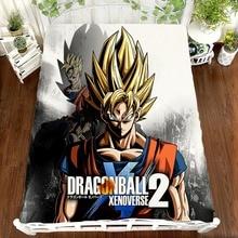 DRAGON BALL Z Anime printing bed sheet Vegeta Son Goku Zetto coverlet Children room linen  (NO cover pillowcase)